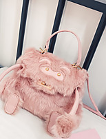 Women Bags Fur Tote Feathers / Fur for Casual All Season Blushing Pink
