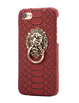 baratos -Capinha Para Apple iPhone X iPhone 8 Com Suporte Capa traseira Côr Sólida Rígida PU Leather para iPhone X iPhone 8 Plus iPhone 8 iPhone 7