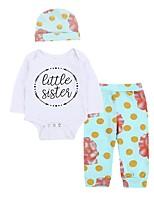 Baby Girl's Casual Daily Polka Dot Floral Clothing Set