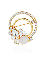 Women's Brooches Rhinestone Metallic Basic Alloy Others Jewelry For Wedding Party
