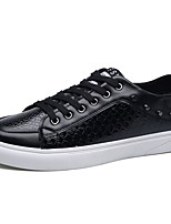 cheap -Men's Shoes Synthetic Microfiber PU PU Leatherette Spring Fall Comfort Sneakers For Casual Black White