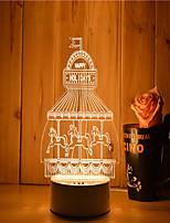 1 jeu de 3d humeur nuit lumière main sentiment dimmable usb alimenté cadeau lampe parc d'attractions