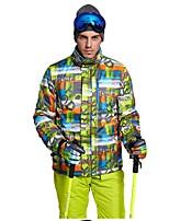 Men's Ski Jacket Warm Ventilation Windproof Wearable water-resistant Ski / Snowboard Multisport Winter Sports Snowshoeing Polyester