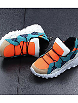 cheap -Boys' Shoes Tulle PU Winter Fall Comfort Snow Boots Sneakers Walking Shoes Lace-up for Casual Black Orange
