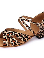 Women's Latin Faux Leather Sandal Indoor Pattern/Print Customized Heel Leopard 1