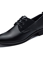 Men's Shoes Real Leather Spring Fall Comfort Oxfords for Office & Career Black Brown
