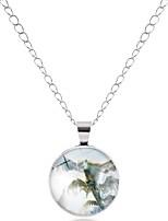 cheap -Men's Women's Circle Geometric Asian Simple Cartoon Lovely Fashion Pendant Necklace Glass Alloy Pendant Necklace , Carnival Office &