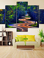 Canvas Set Comtemporary Classic,Five Panels Canvas Vertical Panoramic Print Wall Decor For Home Decoration