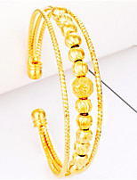 Women's Bangles Cuff Bracelet Asian Lovely Fashion Gift Gold Plated Jewelry For Wedding Daily