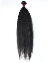 Недорогие -1 шт. Черный Яки Перуанские волосы Ткет человеческих волос Наращивание волос