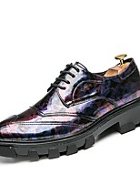 cheap -Men's Shoes Fall Novelty Oxfords for Casual Black Purple Yellow Blue