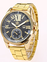 cheap -Men's Fashion Watch Dress Watch Wrist watch Chinese Quartz Alloy Band Casual Gold