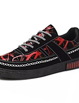 cheap -Men's Shoes Fabric Spring Fall Comfort Sneakers For Casual Black/Blue Black/Red Black/White