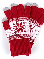 cheap -Ski Gloves Unisex Full-finger Gloves Keep Warm Knitwear Ski / Snowboard Winter