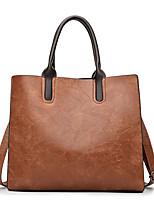 cheap -Women Bags PU Tote Zipper for Shopping Casual All Season Black Red Gray Brown