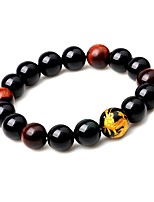 cheap -Men's Women's Strand Bracelet Onyx Fashion Cool Agate Circle Jewelry For Gift Date
