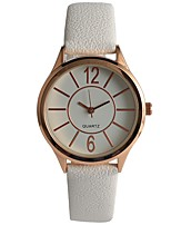 cheap -Women's Fashion Watch Wrist watch Japanese Quartz Casual Watch PU Band Casual White