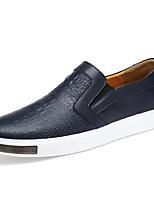 Для мужчин обувь Кожа Весна Осень Удобная обувь Мокасины и Свитер Назначение Повседневные Белый Черный Синий