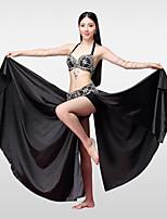 Danza del Vientre Accesorios Mujer Actuación Algodón Poliéster Satén Cuenta Separado Faldas Sujetadores Cinturón