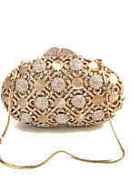 Damen Taschen Glas Metall Abendtasche Kristall Verzierung für Hochzeit Veranstaltung / Fest Frühling Herbst Gold