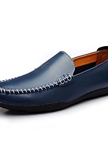 Men's Shoes Leatherette All Season Fall Comfort Loafers & Slip-Ons For Casual Light Brown Blue Orange Black White