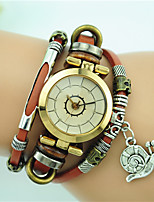 cheap -Women's Fashion Watch Bracelet Watch Quartz Alloy Leather Band Black Blue Red Brown