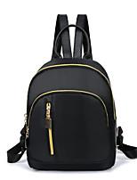 Women Bags All Season Nylon Backpack Zipper for Casual Black