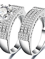Муж. Жен. Классические кольца Цирконий Циркон Медь Бижутерия Назначение Свадьба Для вечеринок Обручение Официальные