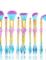 cheap -10 pcs Makeup Brush Set Synthetic Hair Full Coverage Plastic Face