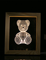 1 Set Of 3D Mood Night Light LED Lights USB Bedroom Photo Frame Lamp Gifts Bear