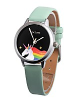 cheap -Women's Kid's Casual Watch Fashion Watch Chinese Quartz Chronograph Water Resistant / Water Proof Leather Band Casual Black White Green