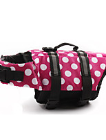 Dog Life Vest Dog Clothes Inlaid Polka Dot Yellow Fuchsia Red Pink Costume For Pets