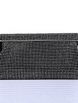 Women Bags Polyester Evening Bag Crystal Detailing for Wedding Event/Party All Season Gold Black Silver