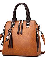 economico -Donna Sacchetti PU (Poliuretano) Tote Set di borsa da 4 pezzi Cerniera per Shopping Casual Tutte le stagioni Giallo Fucsia Grigio chiaro