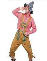 abordables -Lolita Clásica y Tradicional Clásico Hombre Disfraces de Cosplay Accesorios Baile de Máscaras Cosplay Rojo Manga Larga