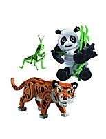 Building Blocks Toys Tiger Animal Animal DIY Kids 3 Pieces