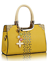 cheap -Women Bags PU Tote Sequins Zipper for Wedding Formal All Season White Blushing Pink Yellow Fuchsia
