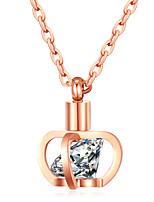 Жен. Ожерелья с подвесками Стразы Цирконий Стразы Позолоченное розовым золотом Бижутерия Назначение Свадьба Для вечеринок