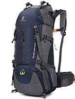 60 L Bolsas e Mochilas Mochilas de Escalada Mochilas Equitação Alpinismo Caminhada Á Prova-de-Chuva Respirabilidade Náilon