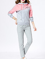 Women's Going out Casual Fall Hoodie Pant Suits