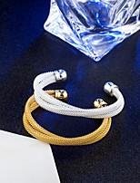 Жен. Браслет цельное кольцо Браслет разомкнутое кольцо Винтаж Elegant Титан Круглый бесконечность Бижутерия Назначение Свадьба Обручение