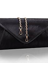 Women Bags Fall Winter Fur Clutch Pockets for Outdoor White Black Red Purple Brown