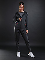 Women's Tracksuit Long Sleeves Breathable Sweat-wicking Tracksuit for Running/Jogging Fitness Cotton Polyster Black Grey S M L XL XXL