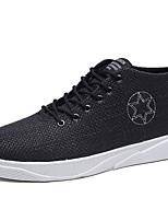 cheap -Men's Shoes Fabric Spring Fall Comfort Sneakers For Casual Beige Black White