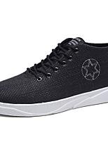 Недорогие -Для мужчин обувь Ткань Весна Осень Удобная обувь Кеды Назначение Повседневные Белый Черный Бежевый