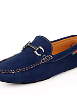 Men's Shoes Suede Fall Winter Moccasin Loafers & Slip-Ons For Casual Party & Evening Blue