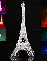19CM Eiffel Tower LED Night Light Desk Wedding Bedroom Decorate Child Gift Lights Lamp