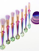 8 pcs Makeup Brush Set Synthetic Hair Full Coverage Plastic Blush