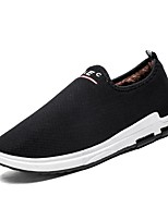 Men's Shoes PU Fabric Spring Fall Comfort Loafers & Slip-Ons For Casual Blue Gray Black