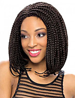 Women Synthetic Wig Lace Front Short Afro Kinky Black Black/Auburn Purple Light Blonde Brown Braided Wig Ombre Hair Bob Haircut Natural